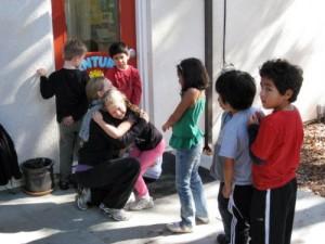 Children at recess, Living Wisdom School in Palo Alto, California