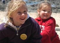 young girls smiling, living wisdom school, palo alto, california