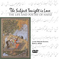 Poster for the play The Subject Tonight Is Love: The Life and Poetry of Hafiz