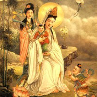 Poster for the play Kuan Yin, She Who Hears the Cries of the World