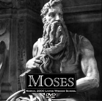 "Poster for the play ""Moses"" at Living Wisdom School in Palo Alto, California"