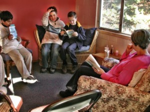 A language arts class at Living Wisdom School in Palo Alto, California