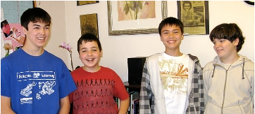 Living Wisdom School students consistently perform well in national tests of academic achievement. LWS 2008 Math Award Winners Zachary, George, Hazemach, and Alex.