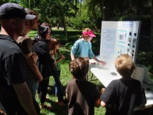 Living Wisdom School Science Fair exhibit: the science of brownies