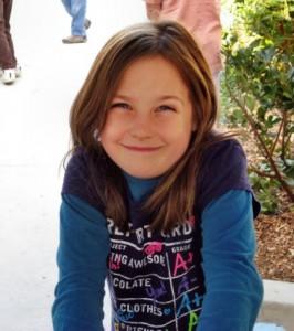 Young girl smiling at Living Wisdom School, Palo Alto, California
