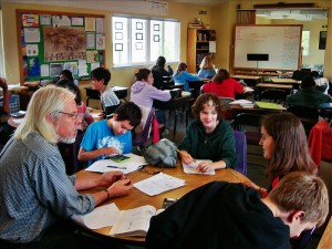 Math at Living Wisdom School in Palo Alto, California.