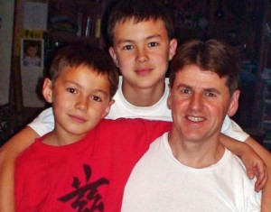 Photo: Lucas and Zachary Munro with Dad.