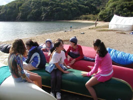 Quiet moment during middle school field trip to Tomales Bay.